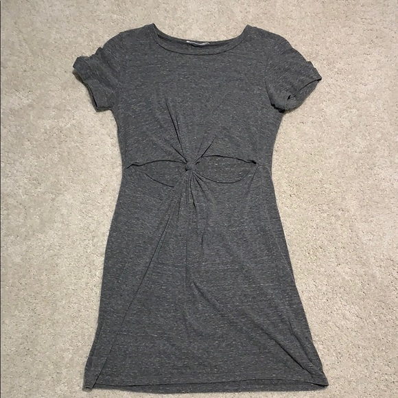Urban Outfitters grey knot cut out mini dress